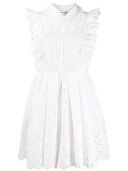 Self Portrait Broderie Anglaise Mini Dress White