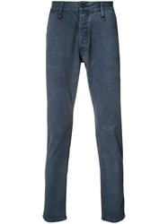 Denham Jeans Distressed Effect Blue