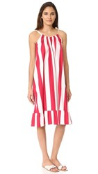 Edit Tie Strap Sun Dress White And Red