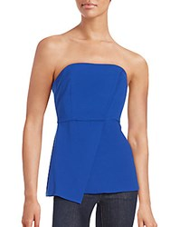 Bcbgeneration Woven Strapless Tube Top Electric Blue