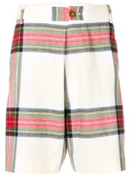 Vivienne Westwood Classic Check Shorts Nude And Neutrals