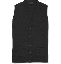 Thom Sweeney Wool Vest Gray