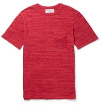 Officine Generale Melange Cotton Jersey T Shirt Red