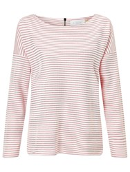 John Lewis Collection Weekend By Stripe Drop Sleeve Top Ivory Pink