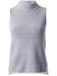 Guild Prime Mock Neck Sleeveless Top Grey