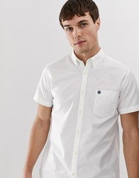 Selected Homme Short Sleeve Shirt In White