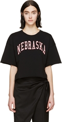 Off White Black Cropped Nebraska Sweatshirt