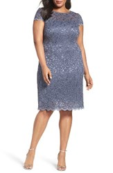 Alex Evenings Plus Size Women's Sequin Lace Sheath Dress