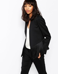 Sportmax Code Malanca Blazer With Fringing Black