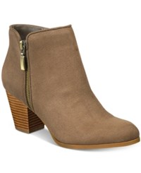 Styleandco. Style Co. Jamila Zip Booties Only At Macy's Women's Shoes Dark Olive Green
