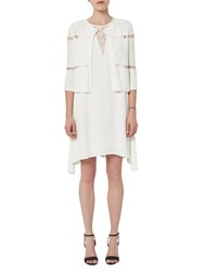 French Connection Hennessy Drape Dress Summer White