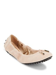 Tod's Leather Ballet Flats White