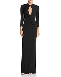 Abs By Allen Schwartz Chain Trim Keyhole Gown Black