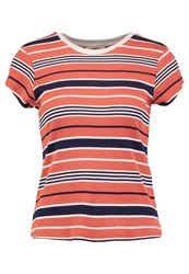 Lee Stripe T Print Tshirt Autumn Glaze Red