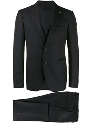 Tagliatore Three Piece Suit Blue