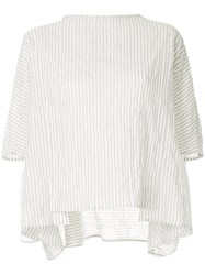 Toogood Boxy Striped Top White
