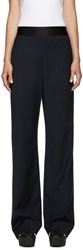 Opening Ceremony Navy Wide Leg Focal Trousers