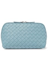 Bottega Veneta Intrecciato Leather Cosmetics Case Sky Blue