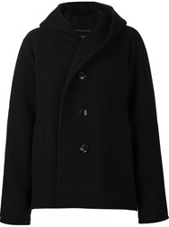 Y's Oversize Hooded Jacket Black