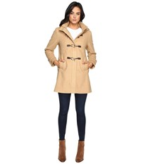 Vince Camuto Sherpa Hood Toggle Closure Wool Coat L8311 Camel Women's Coat Tan
