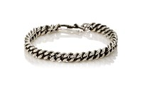 Dean Harris Men's Double Curb Chain Bracelet Silver