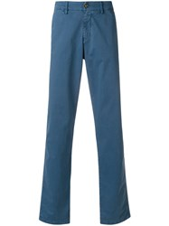7 For All Mankind Straight Leg Trousers Blue
