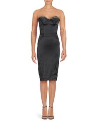 Julian Joyce Strapless Satin Sheath Dress
