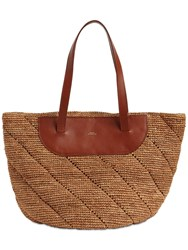 A.P.C. Naomi Hemp And Leather Tote Bag Noisette