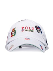 Polo Ralph Lauren Logo Patch Embroidered Baseball Cap White