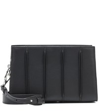 Max Mara Whitney Leather Clutch Black