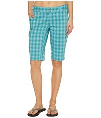 Columbia Saturday Trail Ii Plaid Short Iceberg Plaid Women's Shorts Blue