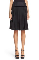Women's Marc Jacobs Pleated Wool Blend A Line Skirt