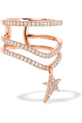 Diane Kordas 18 Karat Rose Gold Diamond Ring