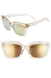 Lilly Pulitzer Celine 54Mm Polarized Square Sunglasses Gold Gold Gold Gold
