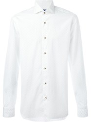 Barba Dotted Long Sleeve Shirt White