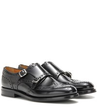 Church's Lana Leather Monk Shoes Black