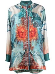F.R.S For Restless Sleepers Luna Silk Printed Blouse 60
