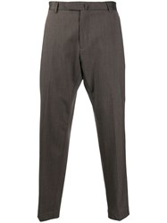 Dell'oglio Tailored Cropped Trousers Neutrals