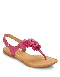 Born Danna Leather Thong Strap Slingback Sandals Pink