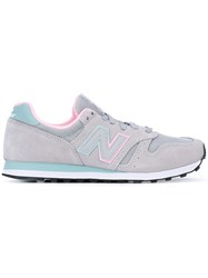 New Balance Lace Up Sneakers Women Leather Suede Polyester Rubber 40 Grey