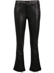 Rta Cropped Flared Trousers Black