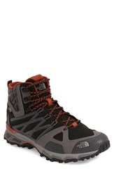 The North Face Men's 'Ultra Hike Ii' Mid Waterproof Gore Tex Trail Sneaker Black Arabian Spice