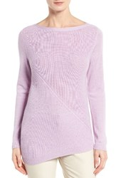 Nordstrom Women's Collection Asymmetrical Textured Cashmere Pullover
