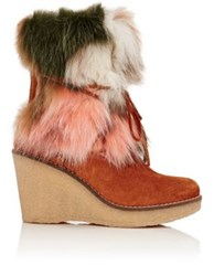 Mr And Mrs Italy Women's Fur Trim Ankle Boots No Color