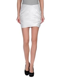 Beayukmui Mini Skirts White