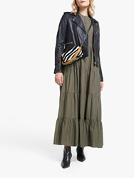 And Or Mendez Tiered Hem Dress Khaki