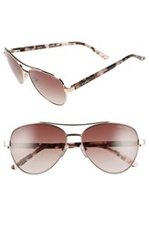 Women's Ted Baker London 57Mm Aviator Sunglasses Rose Gold