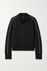 Atm Anthony Thomas Melillo Piped Jersey Track Jacket Black