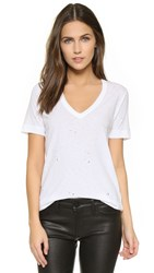 Zadig And Voltaire Wassa Holes V Neck Tee Blanc