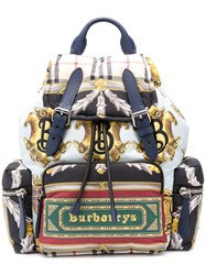 Burberry Logo Archive Scarf Backpack Blue